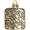 Brass Antique Connector Square 3 Hole - 15mm